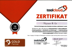 Plogmann - Zertifikat Toolcloud Goldpartner